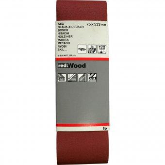 Bosch Schleifband 75 x 533 mm, 3 Stück